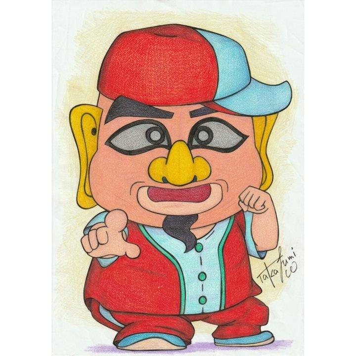 菊タロー選手(@kikutarochan)を描いてみた#お絵かき#イラスト#イラストレーション#色鉛筆#プロレス#プロレスラー#菊タロー#大阪プロレス#アキバプロレス#OSW#お絵かき好きな人とつながりたい