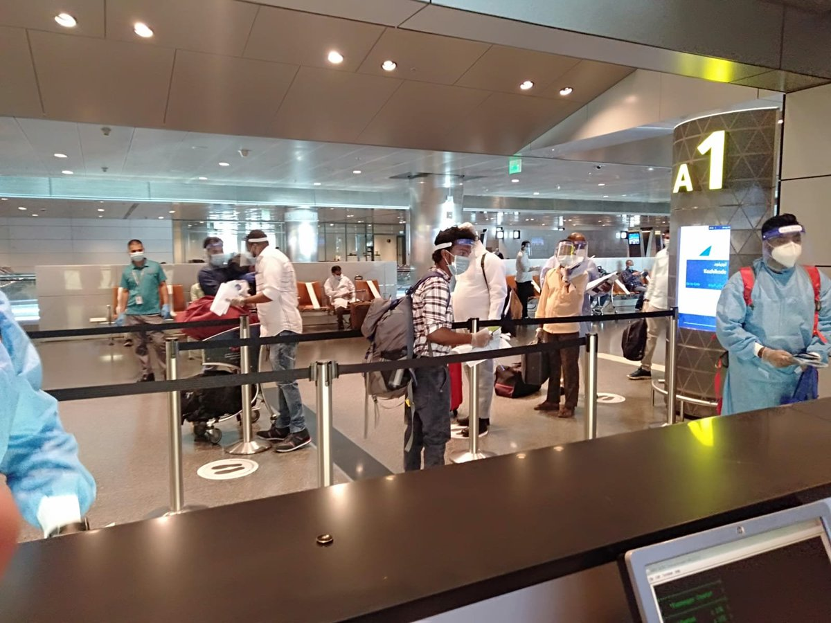 Flight from Doha to Kozhikode departed from Hamad International Airport with 172 passengers and two infants on board. pic.twitter.com/s0ETemjkQM