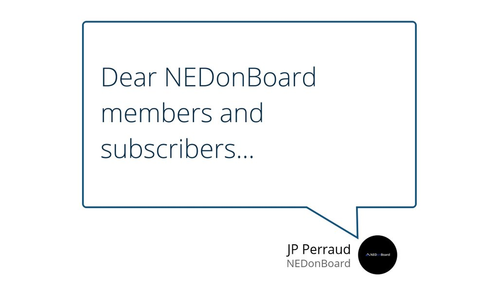 NEDonBoard supports the competence of boards in realising today's opportunities and meeting tomorrow's challenges.  Read the full article: Letter from the NEDonBoard executive team to the NEDonBoard community ▸ https://t.co/Qtu0c4lhPp  #nedonboard #community #covid19 https://t.co/XeT71KMYWX