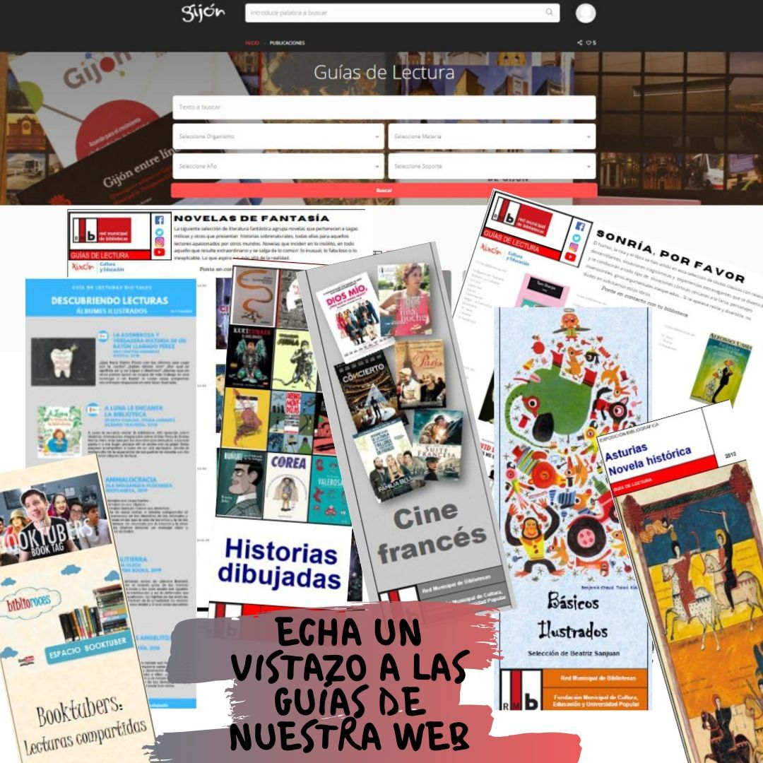 Consulta el apartado de #Guías de lectura del nuevo portal de la red de #bibliotecas de #Gijón para encontrar lecturas recomendadas agrupadas por temática, género o seleccionadas por edad. @Culturagijon #Recomendaciones #lectores 👉🏽
