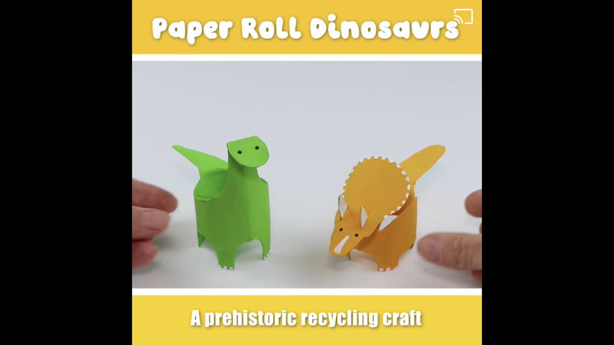 Make these dinosaurs 🦕🦖🧡  https://t.co/qUj8hXczIa  #thefreedomcentrehull #stayalert #staysafe #crafts #kids #fun #community https://t.co/plqCzsC5Hb