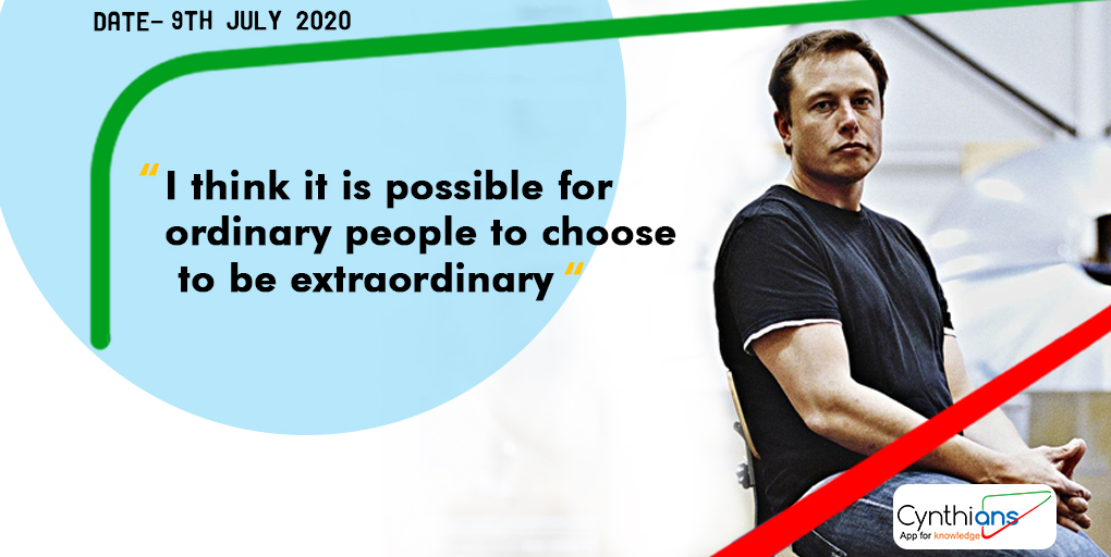 You can also be extraordinary if you work persistently towards your goal. #ElonMusk #ExtraordinaryYou #ThursdayThoughts #thursdayvibespic.twitter.com/IuDGbfaHl1