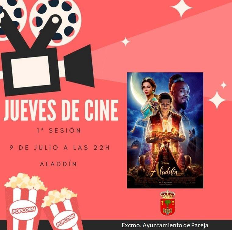 "Lo+próximo (citas). Convocatorias para hoy jueves. JUEVES DE CINE en Pareja. Proyección de ""Aladdin"" https://t.co/uE2zgKzqJR a través de @henaresaldia https://t.co/onTyF116Uk"