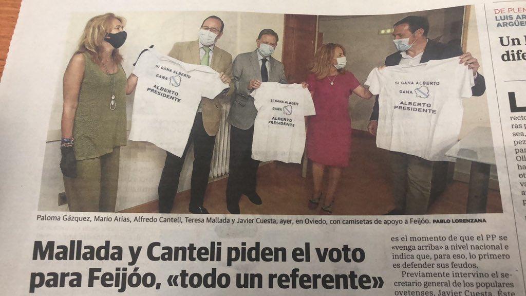 """Mario Arias Navia on Twitter: """"Siempre es un placer apoyar a @FeijooGalicia  y el @ppdegalicia porque Galicia es un referente para el PP y para los  asturianos. Votar @populares es VOTAR SEGURO!…"""
