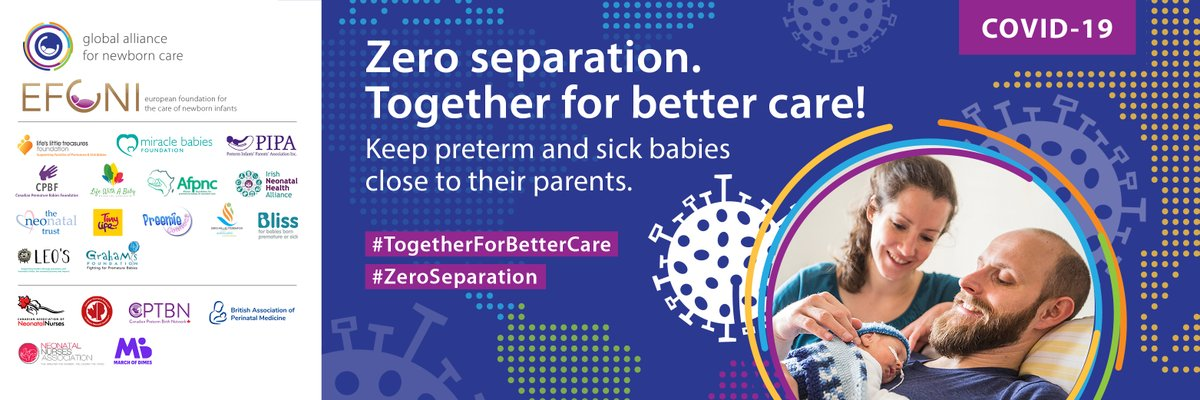 Join premature baby charities across the world who are calling for parents to be able to be with their babies during the Covid 19 pandemic. #TogetherforBetterCare #ZeroSeparation https://t.co/5rmXItaF5h