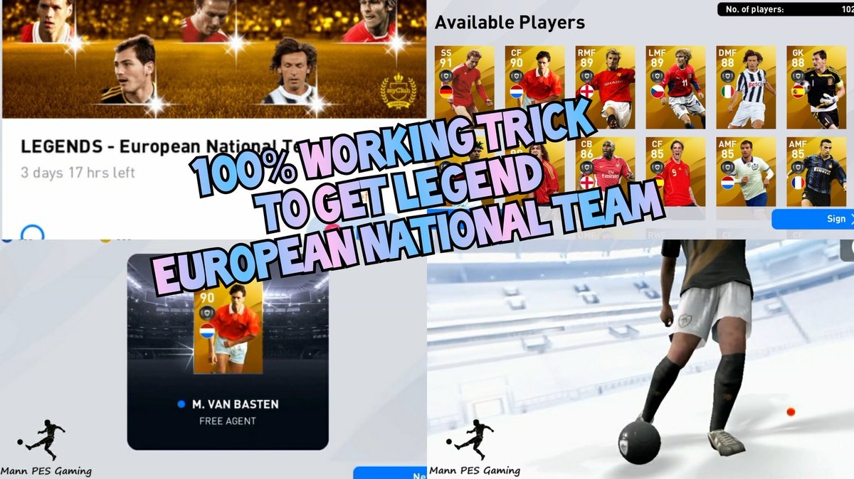 https://t.co/rkZk9NcUer 100% Working trick to get LEGEND in EUROPEAN NATIONAL TEAM selection 😱😱🥅✨🔥🔥🔥 Visit the above link🔝 #pes #pes20 #pes2020 #pes2021 #pes2020mobile #efootballpes2020 #eFootballPES2020Mobile #eFootballPES2021 #eFootball #PESMOBILE #konami #pesmobile2020 https://t.co/Rnd6ZAZnpf