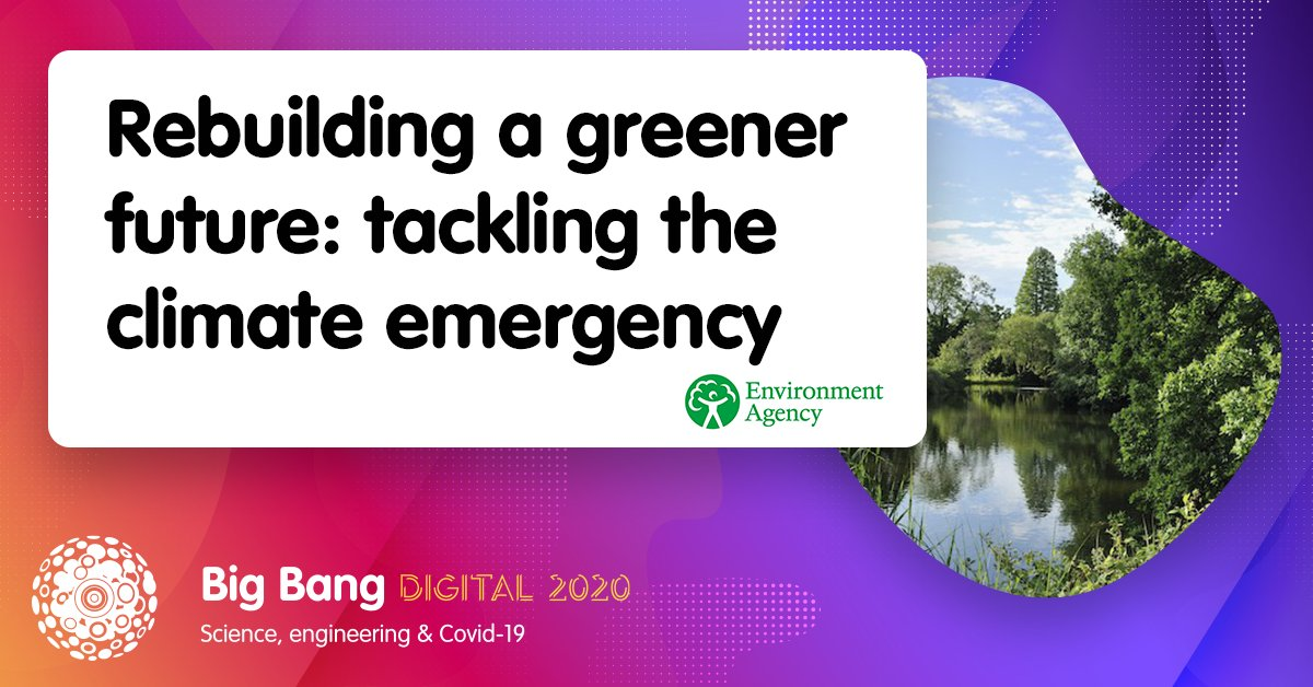 Rebuilding a greener future: @EnvAgency's #BigBangDigital session will explore how the pandemic has impacted the way we work and relate to each other, the behaviour changes we've seen during #lockdown, and what positive lessons we can build on when the country returns to 'normal' https://t.co/nm9HYxSBHc