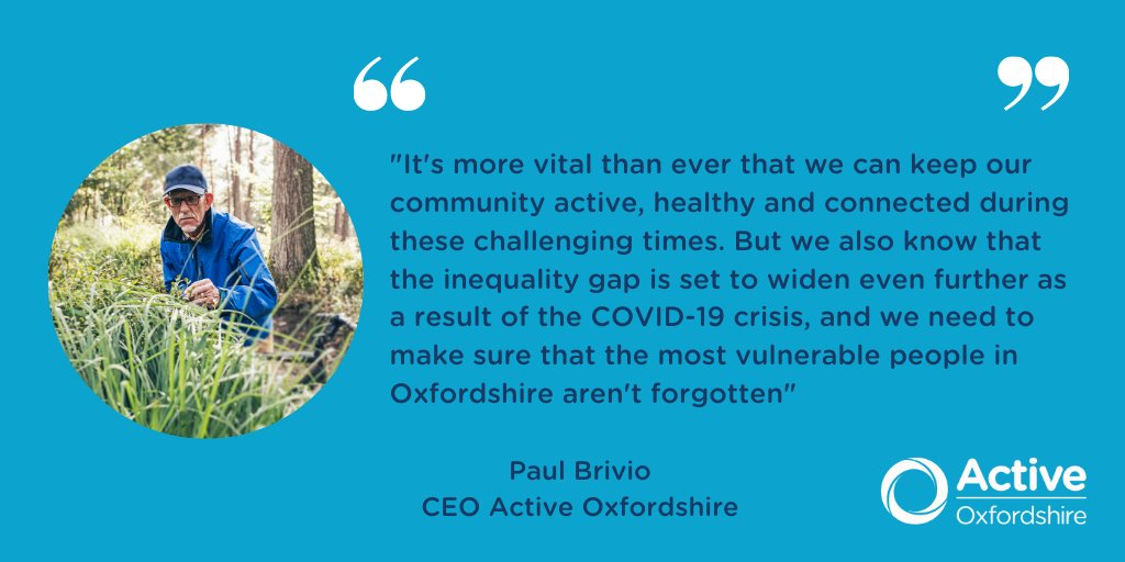 Active Oxfordshire is delighted to grant £50k of @Sport_England funding to 8 #Oxfordshire charities. Read all about #ActiveReach here: https://t.co/6s7ohg8jbb @AccessSport @AgeUKOxon @Aspireoxford @keenoxford @OxfordHub @OxfordshireMind @oxrad @OxYouth
