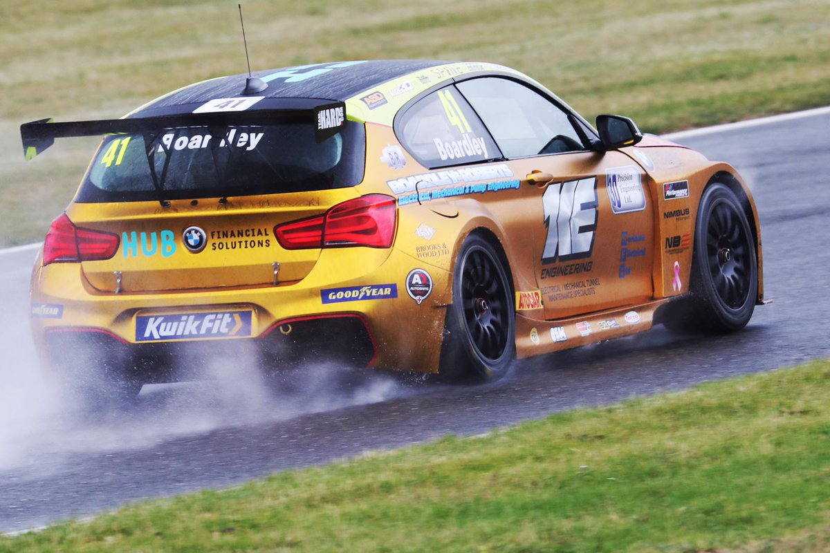 So many super cool images from the last few very wet days at @SnettertonMSV!  We love the new livery @BoardleyCarl!  Great to see all the cars back out on track! Gets us all the more excited for the first @BTCC race of the season!! 💪  #BTCC https://t.co/fX4Xfp49Ng