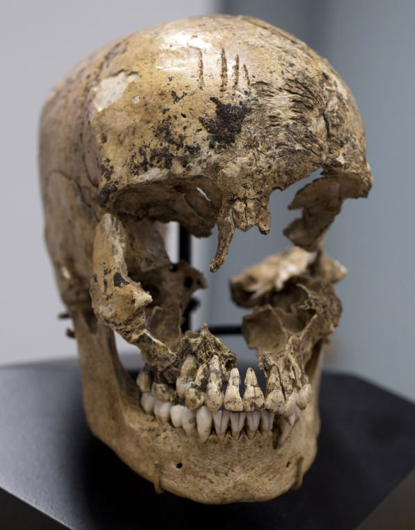 Archaeologists have discovered the first physical evidence of cannibalism by desperate English colonists driven by hunger during the Starving Time of 1609-1610 at Jamestown, Virginia. These are the skeletal remains of a teenage girl consumed by settlers: https://t.co/NugQkdSHDT https://t.co/5lC1SKVnu9