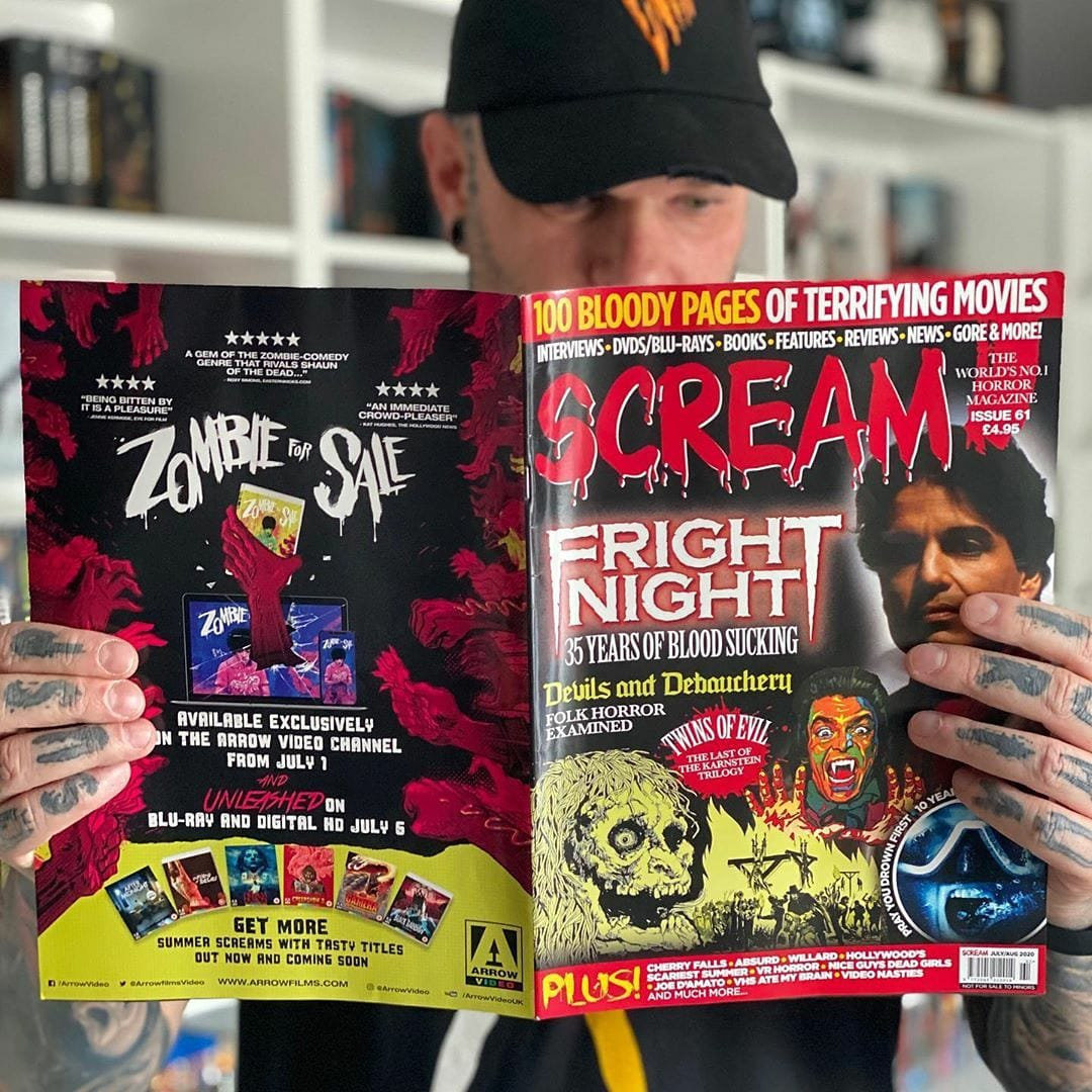 Love HORROR MOVIES? You need SCREAM MAGAZINE. 100 bloody pages, 100% HORROR! 🎃  #HalloweenKills #HalloweenEnds #MichaelMyers #HorrorMovies https://t.co/W1Cy3gDbqs