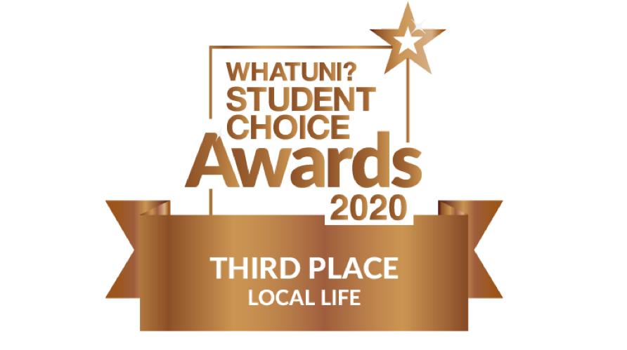 We have been voted third for 'Local Life' in the @Whatuni Student Choice Awards 2020!  ⭐️   The rankings are based on tens of thousands of reviews submitted by students from 150 institutions.   A huge thank you to our students! 👏  #WUSCA https://t.co/GMACJEHpBM