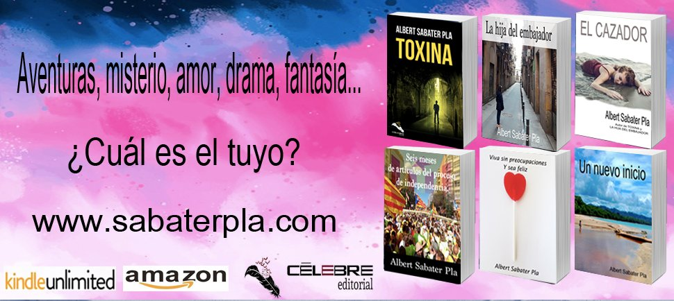 Novela Negra, aventuras, amor, drama, fantasía... Elige el tuyo aquí -> http://sabaterpla.com   #NovelaNegra #Yoleo #gratis #KindleUnlimited #kdp #RecomiendoLeer #Kindle #Lectura #leeresunrefugio #Libros #Buenosdias #leerenamazon #LecturaRecomendada #Verano2020 #Tendenciaspic.twitter.com/rn4FiM2ghU