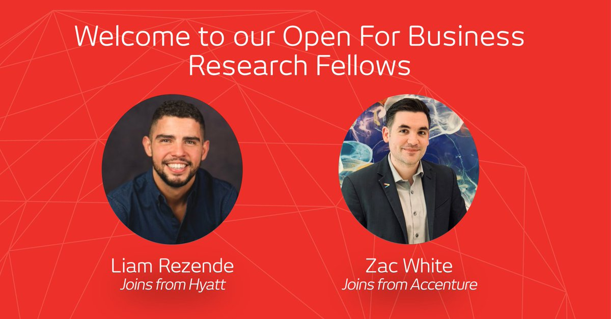 Our team continues to grow! Today we officially welcome two new Open For Business Research Fellows: Liam Rezende from @Hyatt and Zac White from @Accenture.   They join us for the next few months to  help us build more research into the economic case for #LGBT+ rights. https://t.co/bs6mlMBiX9