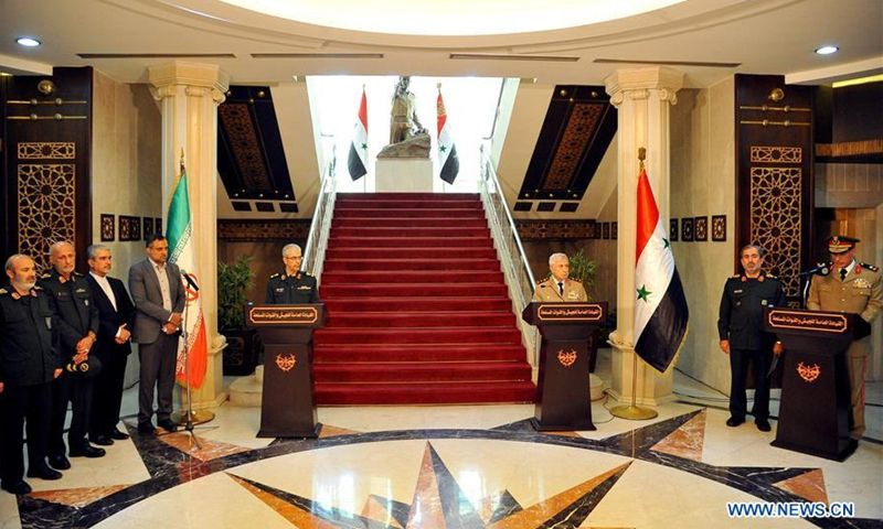 Iran, Syria sign agreement to expand comprehensive military cooperation bit.ly/3ffKxY3