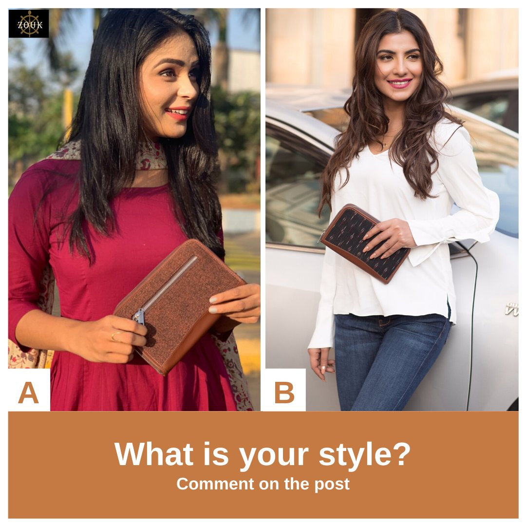 Ethnic or Western - how would you like to style our Chain Wallet? Drop your answer in the comment section below.  Check out our chain wallet collection https://zouk.co.in/collections/female-wallets…  #officebags #onebagforall #zoukbags #veganbags #veganleather #govegan #crueltyfree #crueltyfreefashionpic.twitter.com/nDMY1mcN2L