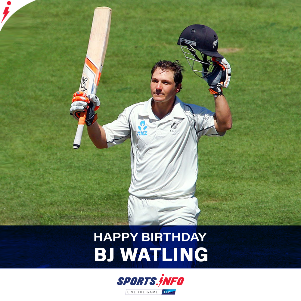#HappyBirthday to @B_Jwatling   Holds the record of most dismissals in Tests for New Zealand  . . . #OnThisDay #Kiwis #Record #BACKTHEBLACKCAPS  #thursdayvibes #thursdaymorning #SportsDotInfo #cricketisback #ENGvWI #BJWatling<br>http://pic.twitter.com/19GmoqWZEd