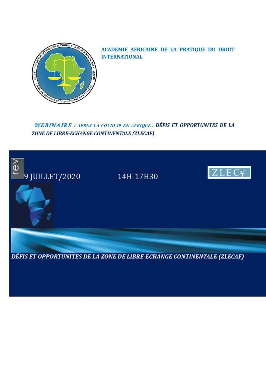 Actualité - Webnaire : Après la COVID-19 en Afrique : défis et opportunités de la Zone de Libre-Echange Continentale Africaine (ZLECAf), le 9 juillet 2020   En savoir plus  : 👇🏾 https://t.co/H1g7MObn15  #covid19 #ohada #droitdesaffaires #droit #ljao #justice #ccja #arbitrage https://t.co/99hQmWdoGy