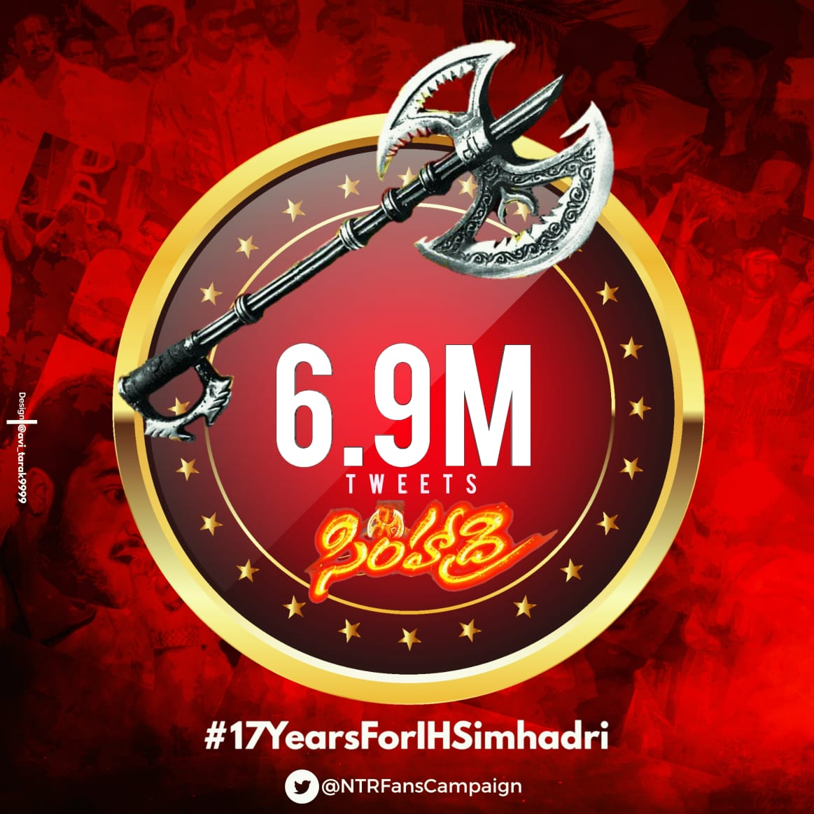 #17YearsForIHSimhadri 6.9M Tweets Done   Next Stop 7 Million Tweets   All @tarak9999 Fans, Let's Do It Fast  #17YearsForIHSimhadri ,<br>http://pic.twitter.com/pfuO4Z3iiC