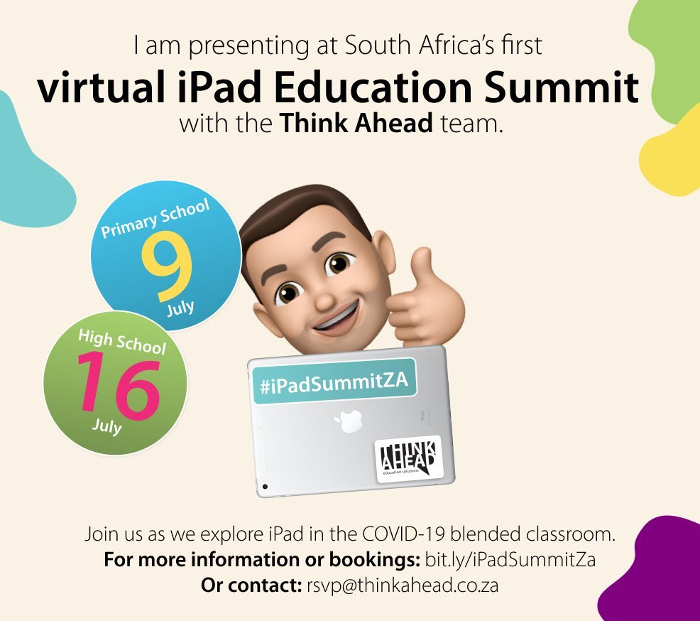 Good luck also to Mr Warne from here @rgsthegrange who will be sharing how teachers can design a Computing curriculum which is pupil-led and focused utilising Swift  @ThinkAheadZA iPad Summit today #Goodluck