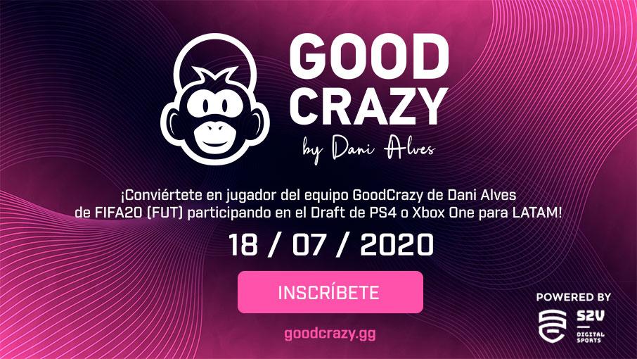 ¡Conviértete en jugador del equipo #GoodCrazy de @DaniAlvesD2 participando en los torneos de PS4 o Xbox One para LATAM!  ⚽️https://t.co/byNyYMgugP⚽️ https://t.co/rYMFgCaz0S