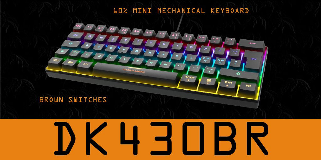If you are a fan of 60% mechanical keyboards and brown switches you will absolutely LOVE this one ;)  #RGB #Minimechanicalkeyboards #mechanicalkeyboards #brownswitches #GamingLifestyle #DELTACOGAMING #Gaming4Everyonepic.twitter.com/LWbcd6izZw