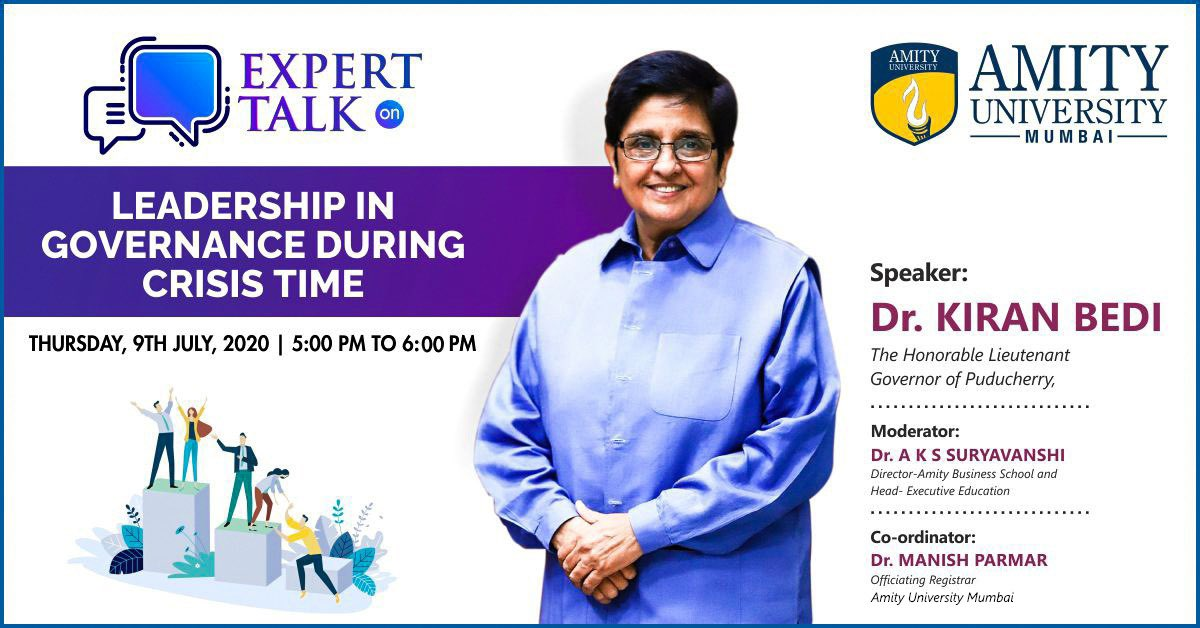 Today 5:00 to 6:00 PM With Amity University Mumbai. @AmityPresident Atul Chauhan  Host: Dr Manish Parmar Webinar Coord and Registrar. On https://t.co/PpHEZkqxEV YouTube Live: https://t.co/WFyq1GdVN3 https://t.co/7u33Zuq7oZ