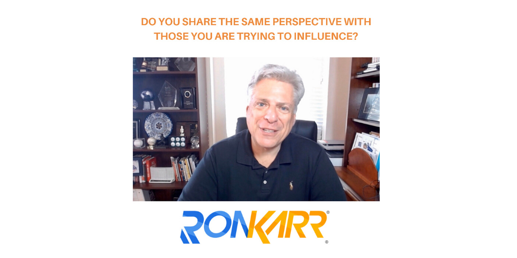 How often do you push your perspective on the people you are trying to influence, when it has nothing to do with their perspective of what they are trying to achieve?  #VelocityMindset #alignment #makeconnections  https://bit.ly/KarrConnectionspic.twitter.com/0aQJb1Si2f