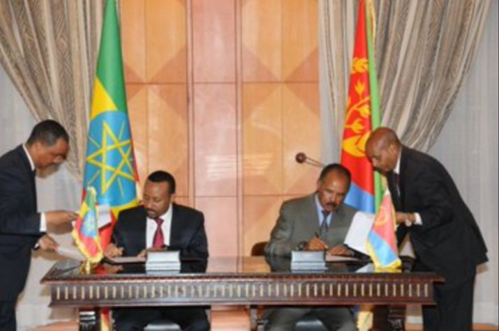 Today in History: Today Mark the second Anniversary of the Historical Eritrea-Ethiopia Peace Agreement that was signed in Asmara #Eritrea that marked the end of two decades of a 'frozen war' between the two neighbouring states. <br>http://pic.twitter.com/yj9aG8U9wB