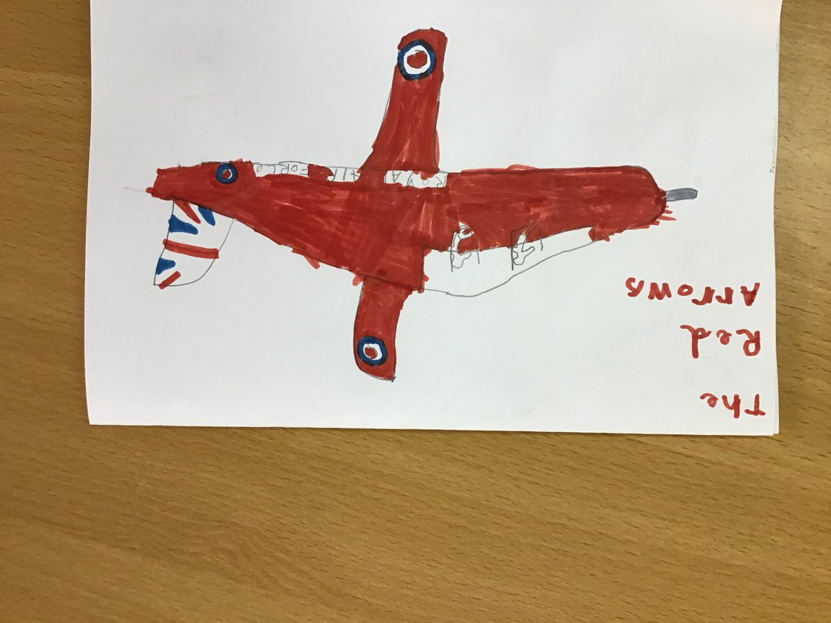 We are so impressed with this fantastic piece of home learning. One of our Year 1 pupil's has written his own non fiction book about the Red Arrows. @rafredarrows @RoyalAirForce #RedArrows.👌⭐️ https://t.co/rqlKAEaSfB