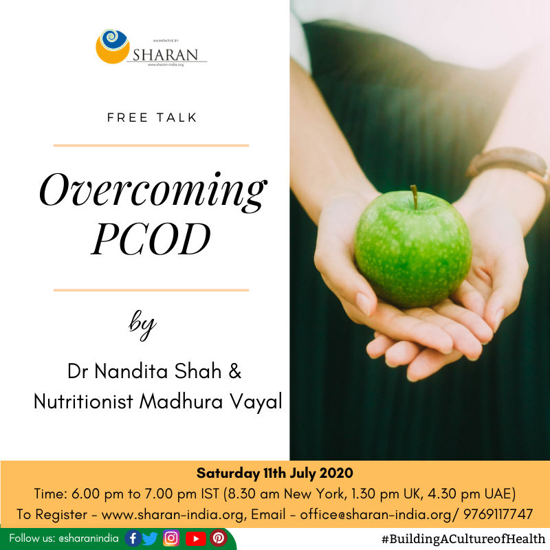 Overcoming #PCOD - Find out the  causes, symptoms and how to resolve and reverse the problem!  It's a #free event but registration is mandatory - https://bit.ly/2ZMm5Hi  #SHARAN #SHARANIndia #BuildingACultureofHealth #PCOS #plantbased #hormonalimbalance #healthylifestyle #zoompic.twitter.com/ZKE5QVs8I4