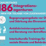 Image for the Tweet beginning: #ZahldesTages: 186 Integrationsagenturen in #NRW