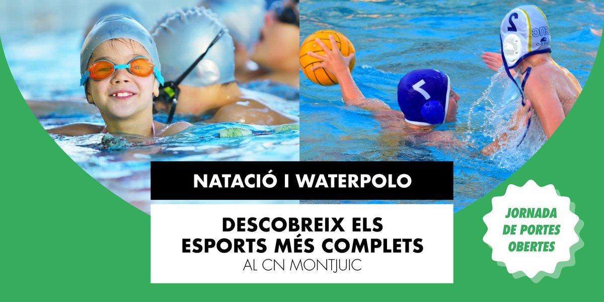 Descobreix la natació i el waterpolo a la jornada de portes obertes del CN Montjuïc!  👧🧒  Anys 2009 a 2014 📅  Dissabte 11 de juliol ⏰  9h  #waterpolo #natacio #Barcelona @D3Esportiu https://t.co/uLlXOouaf4