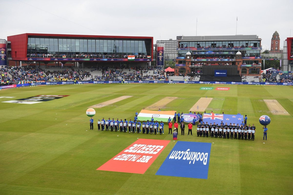 12 months today! The ICC Cricket World Cup semi final @EmiratesOT @lancscricket between India 🇮🇳 & New Zealand 🇳🇿 🏏🏏 #CWC2019