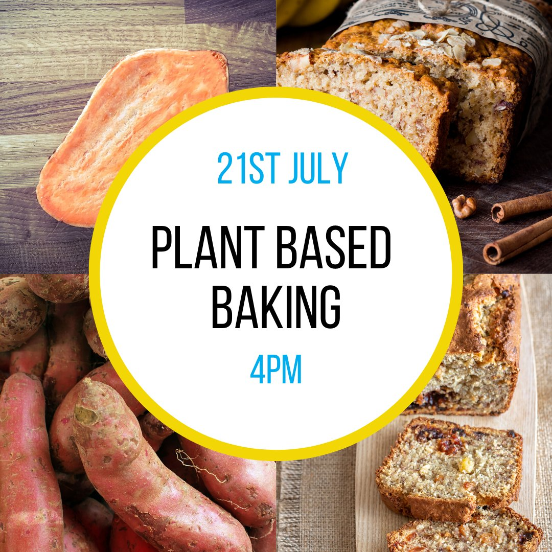 Joinus for this tasty workshop where you will learn to make sweet potato blondes. Bake along or simply watch and see how it is done. This online workshop is open to everybody and no experience is http://necessary.To book: http://ow.ly/Km5E50ArSVW #veganbaking #plantbased #yumpic.twitter.com/hCpOmTATjQ