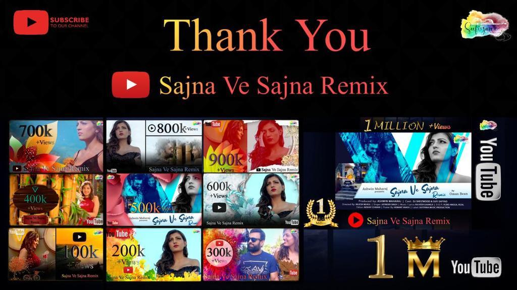 THANK YOU FOR 1 MILLION VIEWS  #sajnavesajnaremix #sufiyanamusicproduction #bollywoodsong #ashwinmaharaj #rajveergaangji #omanbean #musicproducer #BollywoodBreaking2020 #bolywood #bollywoodnews #bollywoodupdate #BollywoodCelebs #YouTuber #MusicVideo #musicpic.twitter.com/VpQWEI6H8I