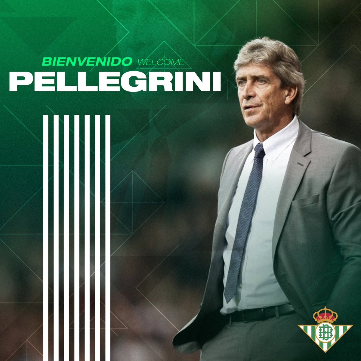 📣 OFICIAL | Manuel Pellegrini, entrenador del #RealBetis a partir de la próxima temporada 🤝🆕💚 ¡Bienvenido! 👋🇨🇱 ➡ realbetisbalompie.es/noticias/actua…