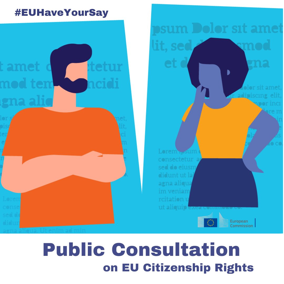 📢New public consultation on #EUCitizenship rights  📋We want to gather a wide range of information, experiences and views - from citizens and organisations.   🗓️ #EUHaveYourSay before 1 October 2020  ➡️https://t.co/U0K91cLzWj https://t.co/O5DHa2pdxl