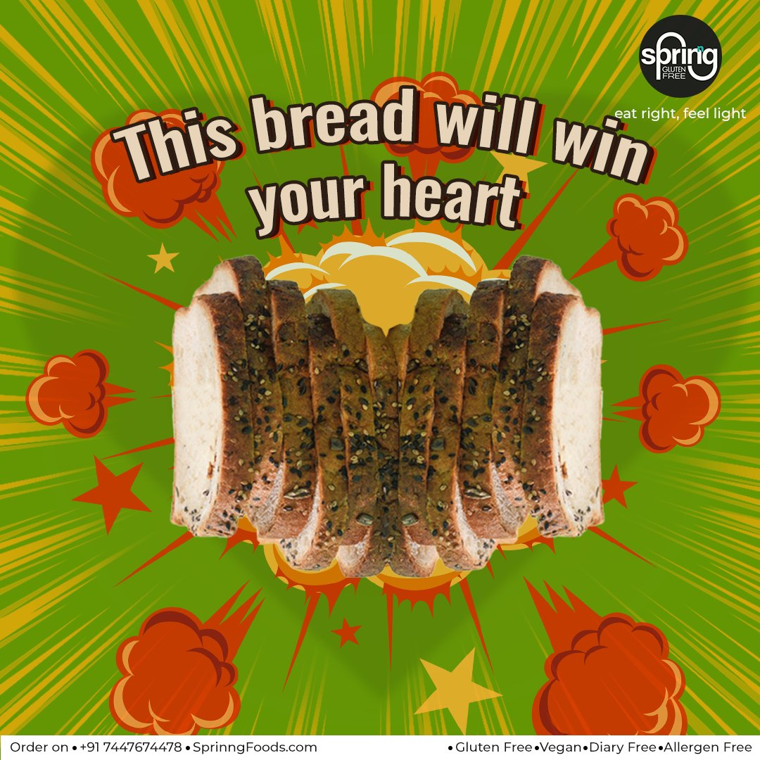 Sprinng knows the way to your heart & your stomach! Our delicious gluten-free bread is tasty and feels so light, that it's just right for your sandwiches & toasties! . pic.twitter.com/NlkoP4fvWX