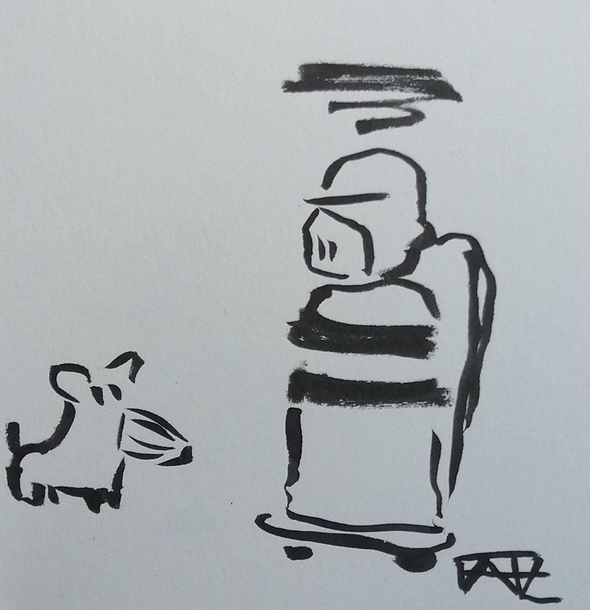 Hast du auch Tollwut?  @kritzelich #DenkanstoßDonnerstag #LessThan60sChallenge #drawing #doodle #art #sketch #ink #inkdrawing #fanart #horrormovie #Hannibal #grusel #horror #kleineKunstklasse #onedrawingadayforeverpic.twitter.com/8l1eelOzgY