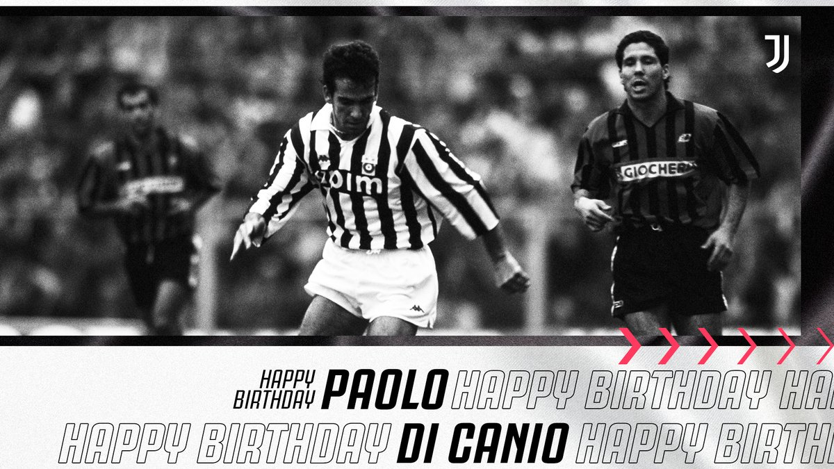 🎼 It's Paolo Di Canioooooo's birthday today! Best wishes to the former Juve forward! 🎂⚪️⚫️  #ForzaJuve https://t.co/W5Ehs23GsS