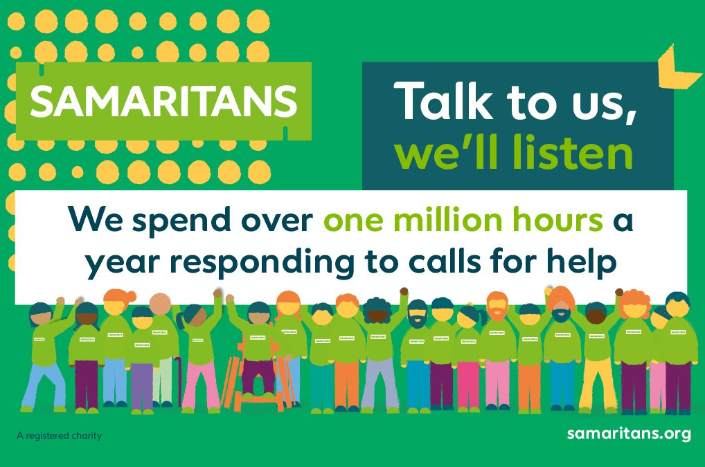 Did you know that our volunteers spend over one million hours a year listening?  Every hour, of every day, our volunteers are here for you, even through these particularly difficult times. If you're struggling, you can #TalkToUs 📱 116 123 📧 jo@samaritans.org https://t.co/AuZXomAqEg