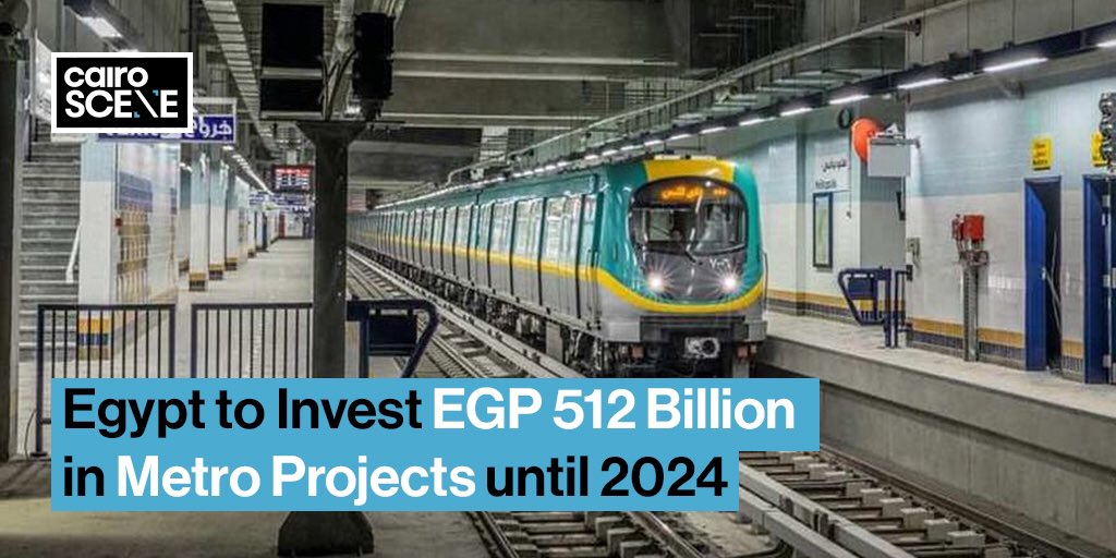Cairo's most efficient and cost-effective form of transportation can always be more efficient and more cost-effective, which is why the Ministry of Transportation will invest EGP 512 billion in 22 different metro stations up until 2024.  https://t.co/Si9iX3e1Lk https://t.co/fZuDvl1HdC