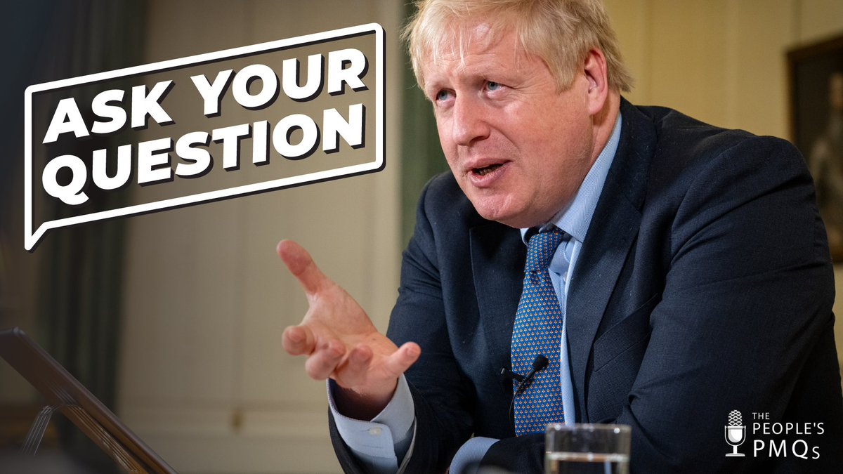 Tomorrow you can ask the Prime Minister a question at #PeoplesPMQs Ask here: gov.uk/ask