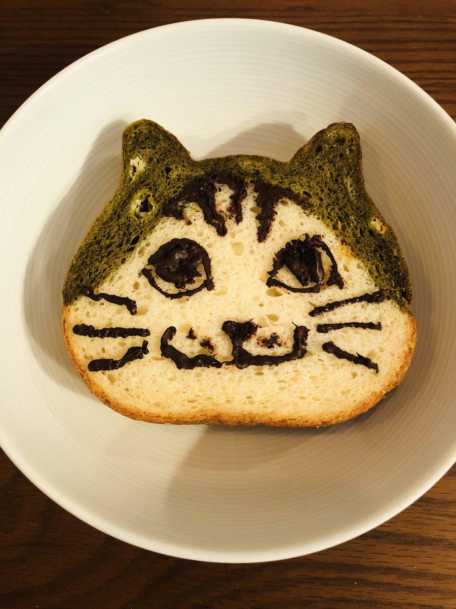 ねこねこ食パンに絵を描いてみた結論→もう少し練習が必要難しい( ´△`)#猫好きさんと繋がりたい #ねこ #猫写真