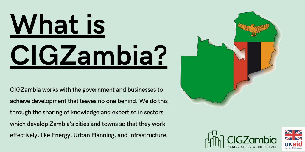 Are you new to CIGZambia? Not sure what it's all about? Follow us here for more on our work, news and impact in this beautiful country! 🇿🇲 When cities work well, their businesses thrive and their people can find jobs, leading to economic growth that leaves no one behind. @DFID_UK https://t.co/RbSdiPJKbl