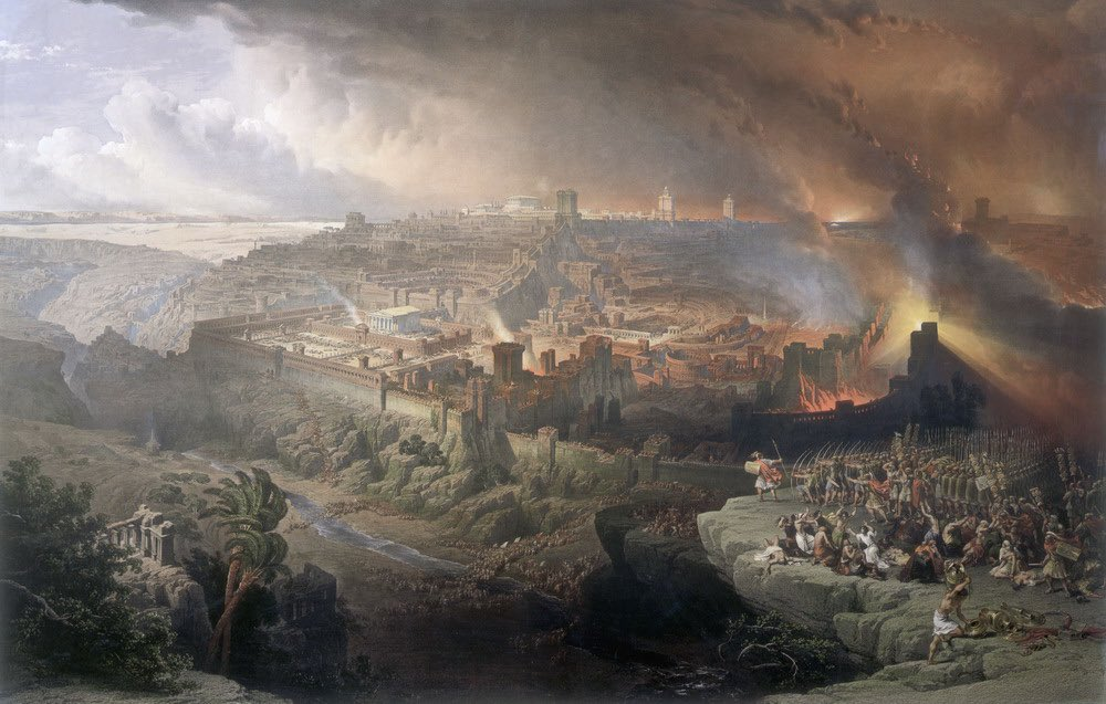 On this day 1,950 years ago the walls of Jerusalem were breached by the Romans. Three weeks later the Second Temple, with most of Jerusalem, was destroyed. The 17th day of the month of Tammuz begins a three week period of mourning by observant Jews around the world. https://t.co/QXUXAQk3Fs