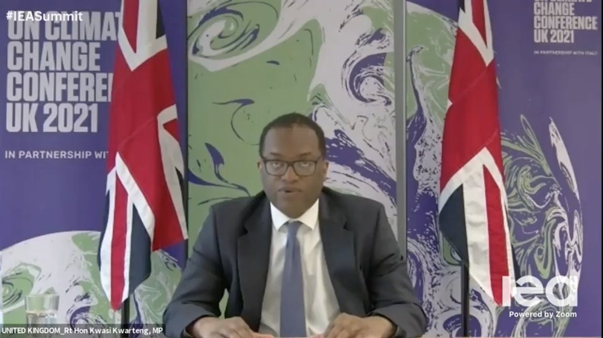 We need to #BuildBackBetter. The UK invites you to join us, to speed up the global transition to cheaper and cleaner energy - @KwasiKwarteng speaking today at @IEA #IEASummet