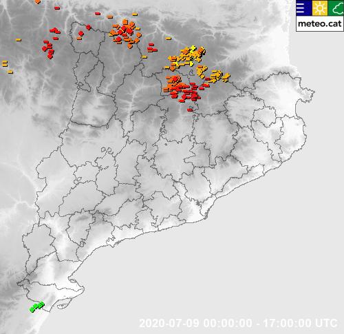 Fins a les 17.00 TU s'han enregistrat  2.029 descàrregues elèctriques dins de Catalunya. La comarca més afectada ha sigut la Cerdanya, amb 1.180. https://t.co/pUm3dBZq0w