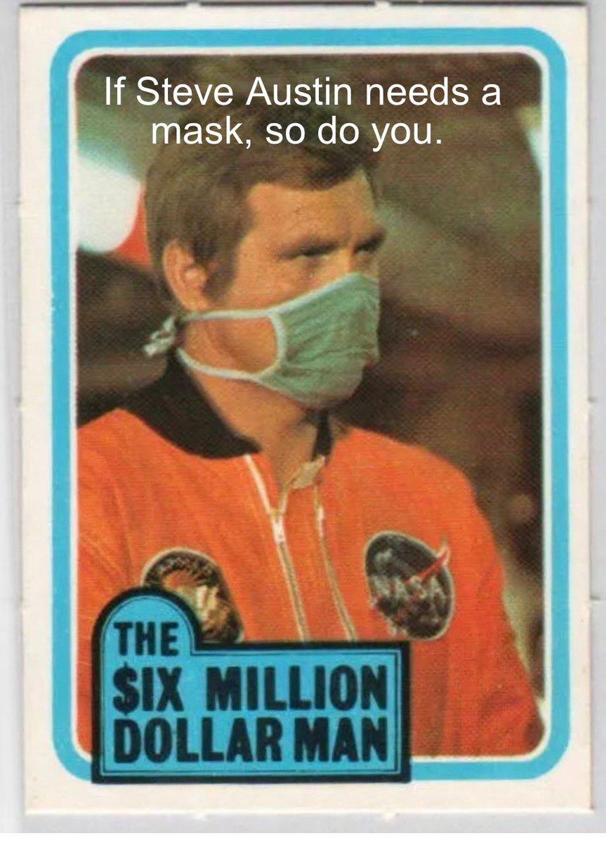 #thesixmilliondollarman #covid19 #mask #leemajors #sixmilliondollarman #covid https://t.co/pZHmQrVR5V